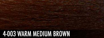 4-003 warm medium brown