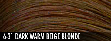 6-31 dark warm beige blonde