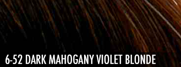 6-52 dark mahogany violet blonde