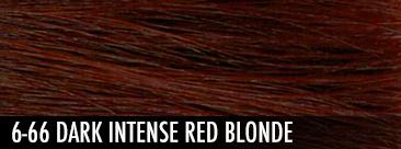 6-66 dark intense red blonde