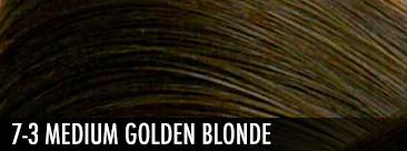 7-3 medium golden blonde