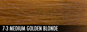 7-3 medium golden blonde