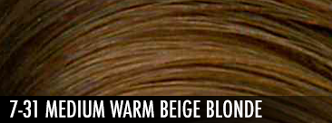 7-31 medium warm beige blonde