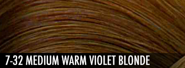 7-32 medium warm violet blonde