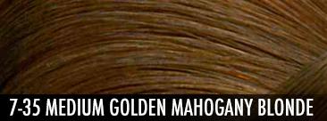 7-35 medium golden mahogany blonde