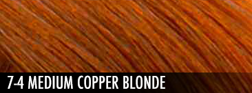 7-4 medium copper blonde