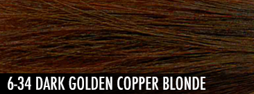 dark golden copper blonde