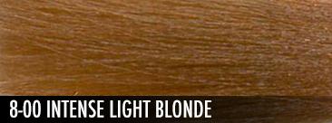intense light blonde
