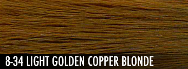 light golden copper blonde