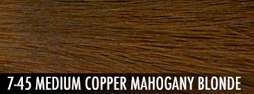 medium copper mahogany blonde