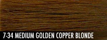medium golden copper blonde