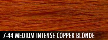 medium intense copper blonde